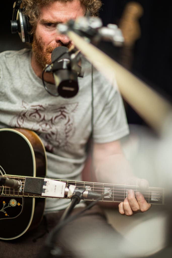 Gerald Clark recording his acoustic album at Digital Forest Studios.